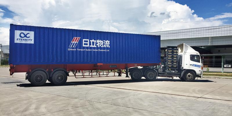 รถบรรทุกขนส่งของ HITACHI TRANSPORT