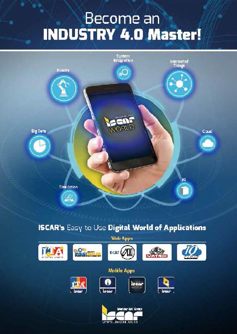 「ISCAR WORLD」は、製品カタログを1つにまとめたオンラインアプリ。パソコンだけではなく、携帯からも発注可能