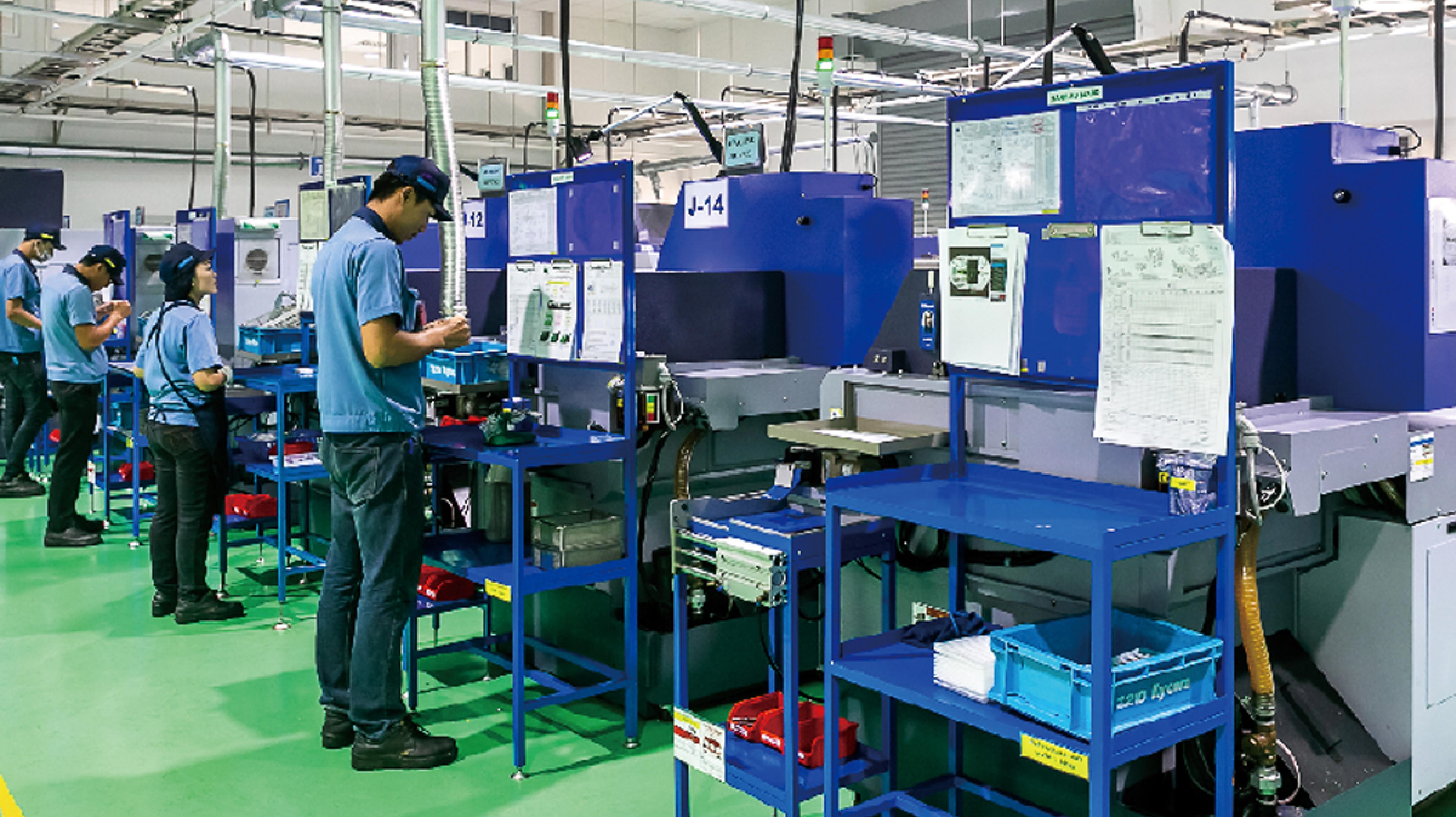 新工場には最先端の設備が勢揃い