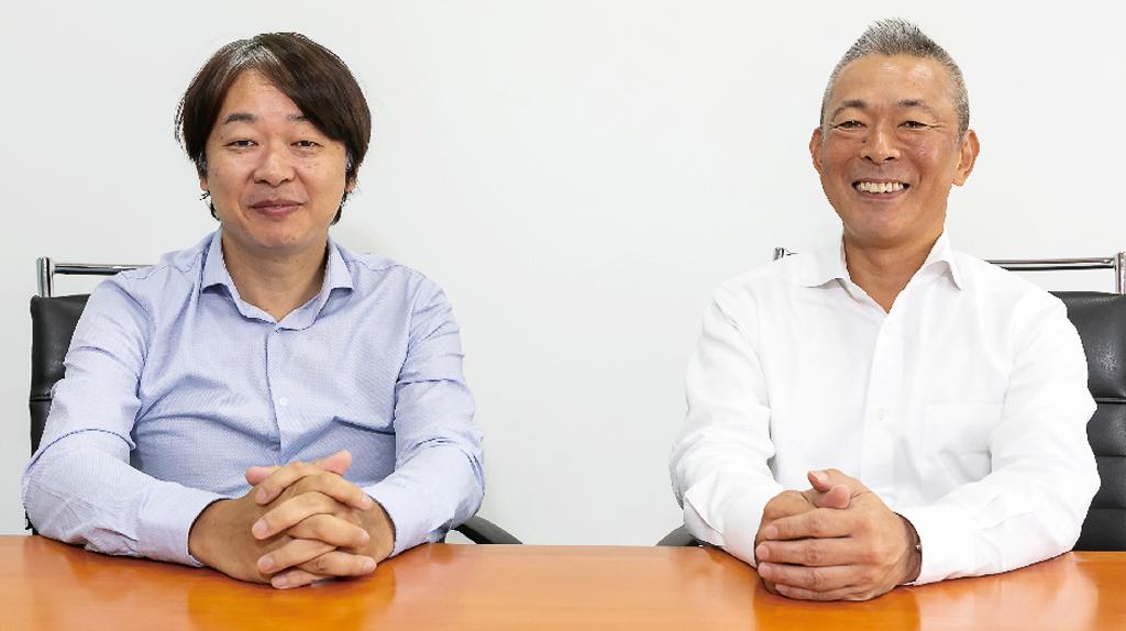「日系企業の皆さまのタイ進出を、デジタルソリューションの側面からサポートしていきます」と意気込む松永MD(右)と加藤GM
