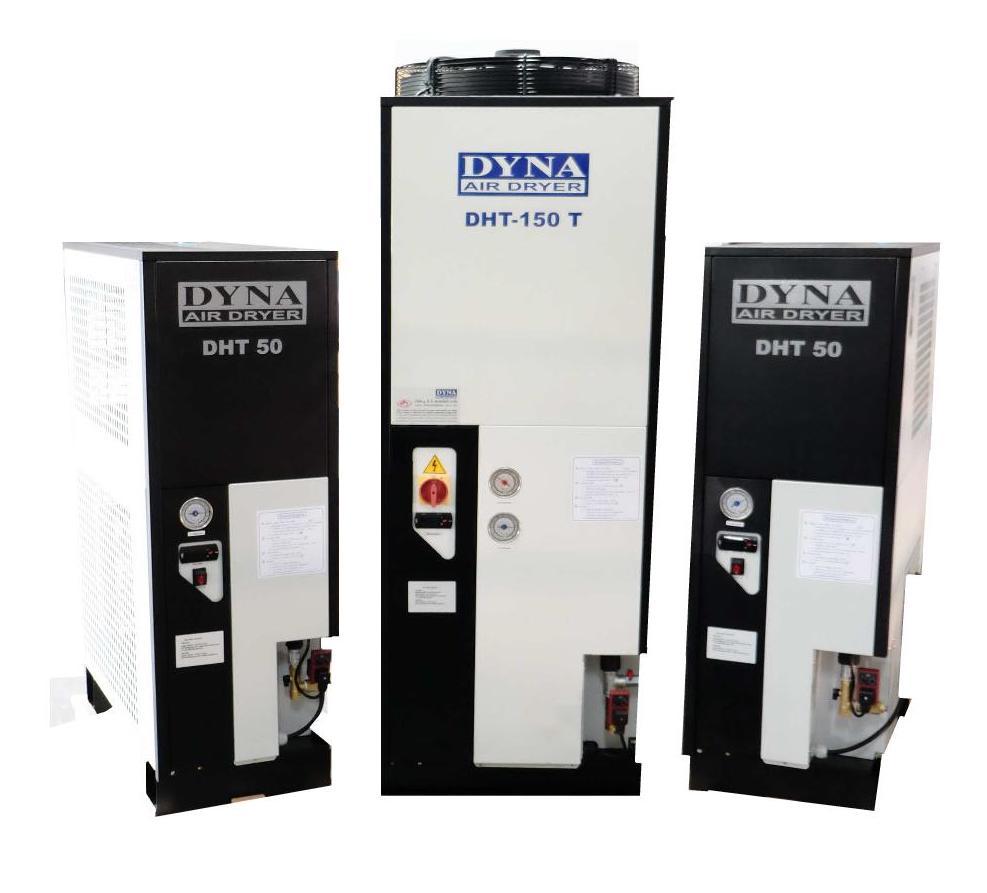 放熱システム(アフタークーラー)付きで、機内の水分を制限できる空気乾燥機(エアドライヤー)。空気中の水分を99.9%排除可能なため、低温のエアーを排出できます。
