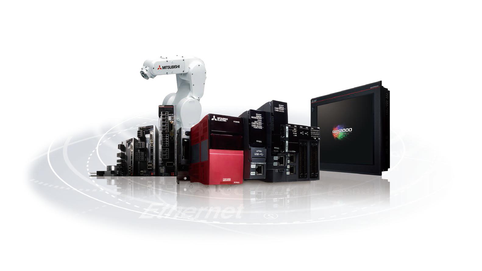 幅広いFA機器を用い、生産現場のあらゆるコストを削減する「e-F@ctory」