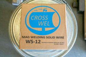 ベトナムに拠点を持つグループ会社「WATARI TOKUGAWA WELDING INDUSTRY CO., LTD.」が製造・販売する「炭酸ガス溶接用ワイヤー(15kgスプール巻)」。同社でも購入可能だ